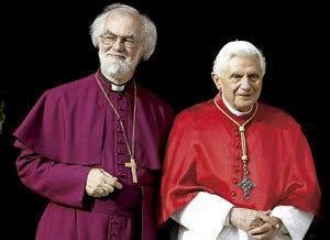 papa Benedicto XVI con Rowam Williams