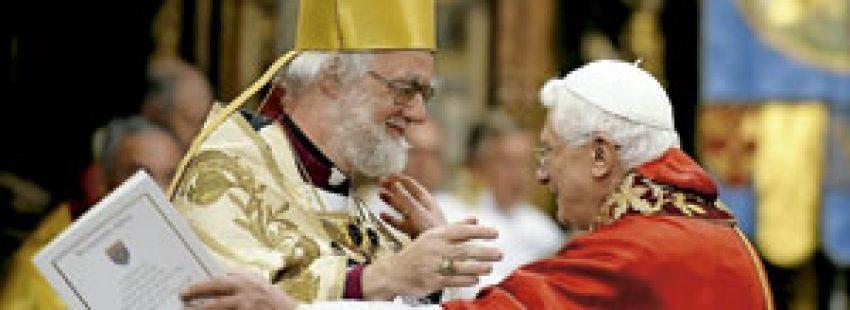 papa Benedicto XVI y Rowan Williams