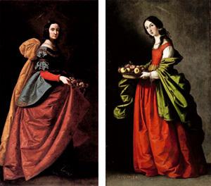 santa Isabel de Portugal y santa Dorotea de Zurbarán
