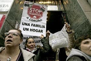 grupo de protesta Stop desahucios A Coruña