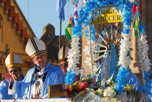 cardenal Jorge Mario Bergoglio basílica de la Virgen de Luján 2008