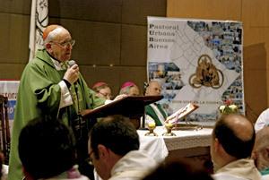 Jorge Mario Bergoglio encuentro Pastoral Urbana Buenos Aires
