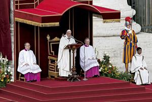 papa Francisco homilía en la misa de inicio del pontificado