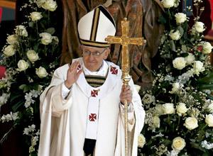 papa Francisco en la misa de inicio del pontificado