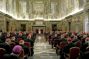Benedicto XVI se despide de los cardenales jueves 28 febrero 2013