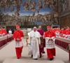 papa Francisco saliendo del cónclave