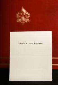 papeleta Eligo in Summum Pontificem elección papa en cónclave