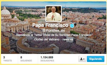 Pontifex cuenta de Twitter del papa