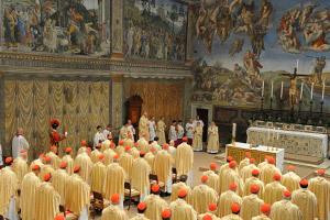 primera misa papa Francisco 14 marzo 2013 Capilla Sixtina