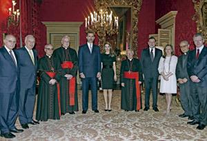 recepción en la embajada española ante la Santa Sede antes de la misa inicio pontificado