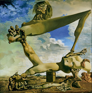 Construcción blanda con judías hervidas, cuadro de Dalí