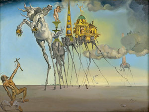 La tentación de San Antonio, cuadro de Dalí