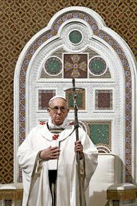 papa Francisco toma posesión como obispo de Roma en Basílica San Juan de Letrán 7 abril 2013