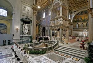 Basílica de San Juan de Letrán en la toma de posesión papa Francisco 7 abril 2013