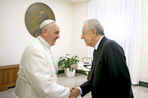 papa Francisco con Mario Monti