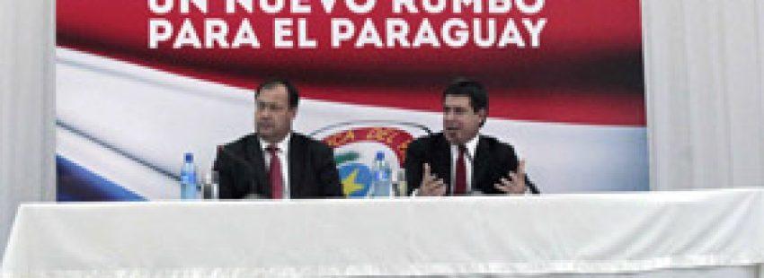 Horacio Cartes y Juan Afara, presidente y vicepresidente de Paraguay