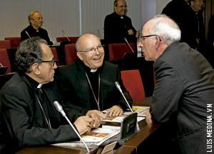 J.M. López de Andújar, Amadeo Rguez. Magro y Atilano Rodríguez Asamblea Plenaria CEE abril 2013