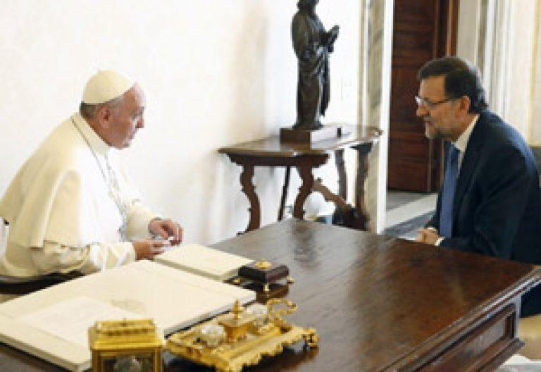encuentro entre Mariano Rajoy y papa Francisco 15 abril 2013