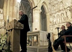 Christoph Schonborn, cardenal arzobispo de Viena, charla a sacerdotes en monasterio de Poblet Tarragona