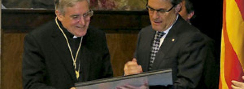 cardenal de Barcelona Lluís Martínez Sistach recibe Medalla de Oro de la Generalitat de Cataluña