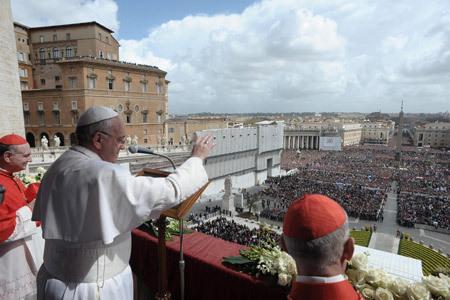 papa Francisco mensaje pascual y bendición Urbi et Orbi 31 marzo 2013