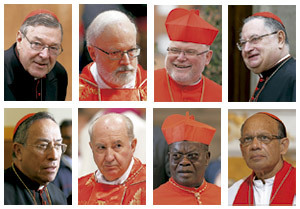 ocho cardenales nombrados por papa Francisco para ayudarse a reformar la Curia