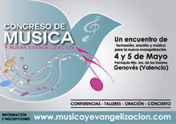 Congreso Música y Nueva Evangelización mayo 2013 cartel