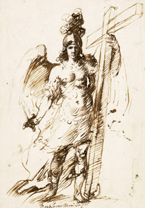 dibujo San Miguel Arcángel, de Murillo