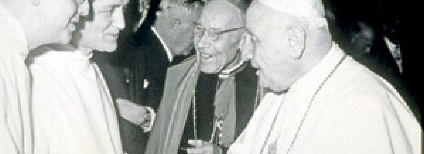 Hermano Roger de Taizé con papa Juan XXIII