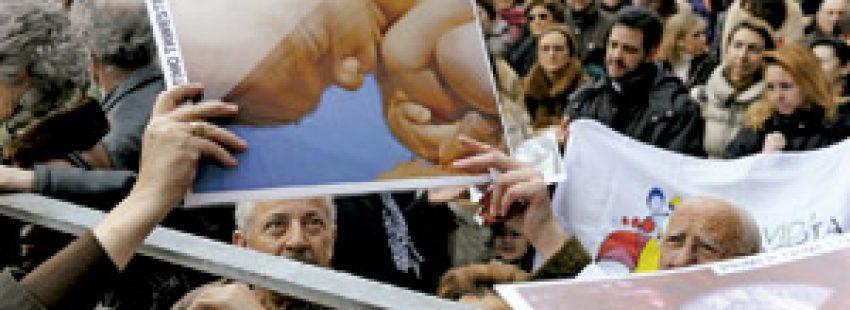 manifestación provida y contra el aborto en España
