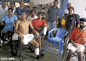 proyecto de la Iglesia en Colombia de atención a víctimas de mina antipersona