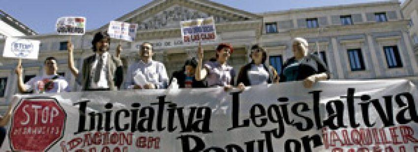 manifestación de la Iniciativa Legislativa Popular de la plataforma Stop Desahucios