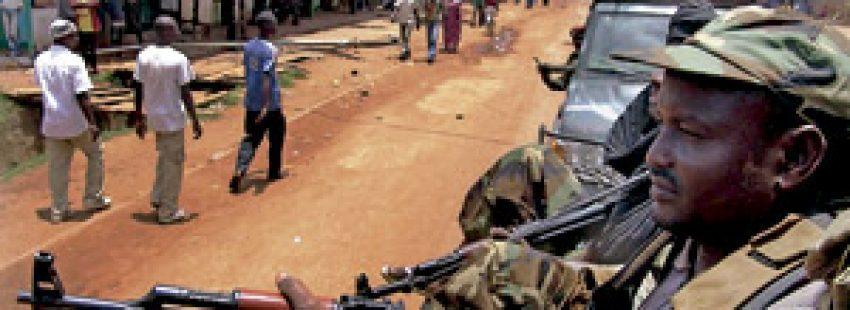 caos soldados en la República Centroafricana tomada por rebeldes
