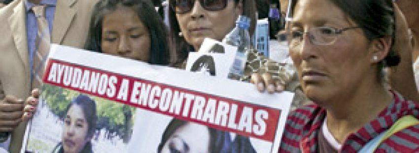 familiares de chicas secuestradas para trata de personas