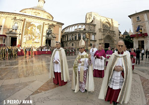 cardenal Santos Abril en Valencia fiesta Desamparados 2013