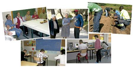varios proyectos de la Asociación Cintra de religiosos en el barrio del Raval de Barcelona