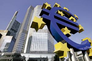 símbolo del euro y de la Unión Europea