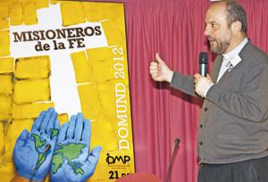 José María Calderón en el X Encuentro Misionero de Jóvenes abril 2013