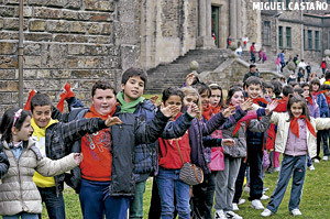 primer Encuentro Diocesano de Niños en Santiago de Compostela mayo 2013