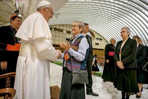 papa Francisco recibe a religiosas de la UISG