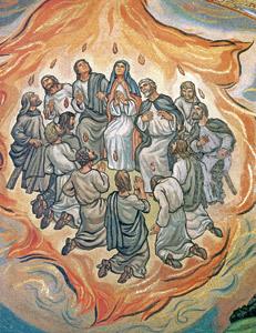 Pentecostés, pintura