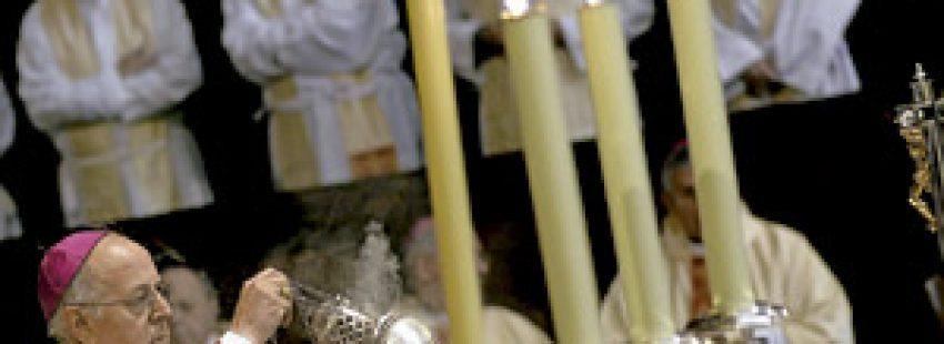 Ricardo Blázquez en la celebración de su 25 aniversario como obispo, en la catedral de Valladolid 29 mayo 2013