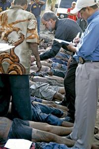 Rómulo Emiliani obispo auxiliar de San Pedro Sula identifica cadáveres de víctimas de las maras