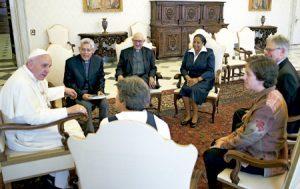 papa Francisco con la presidencia de la CLAR junio 2013