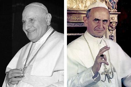 papas Juan XXIII y Pablo VI