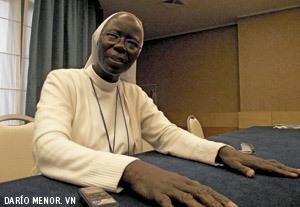 Maria Thérèse Diene, presidenta de la Confederación de Religiosos Africanos