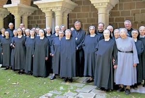 participantes en el Encuentro Ibérico Monástico benedictino junio 2013