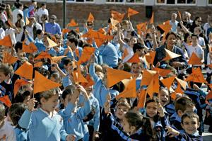 alumnos de escuela concertada en movilización de la plataforma Estamos desconcertados