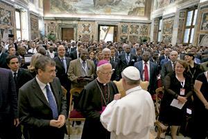 papa Francisco recibe a los representantes de la FAO junio 2013