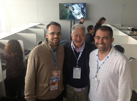 Darío Menor, Antonio Pelayo y Óscar Elizalde JMJ Río 2013